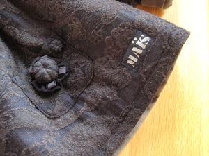 """09fc386b8f0329 Manteau d hiver à la croisée des chemins entre """"Alice"""" et """"Isild"""" de  Citronille, mais basé sur """"Dublin"""" (C est Dimanche), en laine fleurie bleu  marine"""
