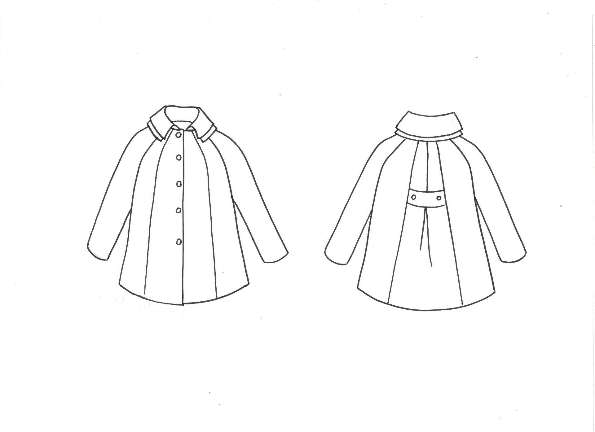 Ivanne s patron de couture aigue marine manteau trench - Dessin de manteau ...