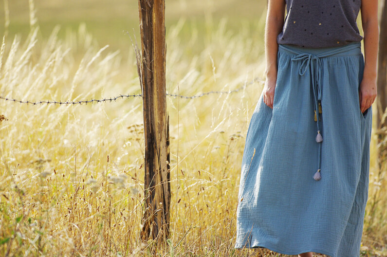 8bbcfa08bcfbaf Ivanne.S | Comment coudre une jupe longue / maxi skirt ?