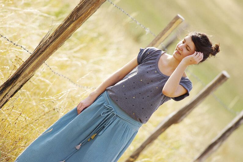 Ivanne.S | Comment coudre une jupe longue maxi skirt ?
